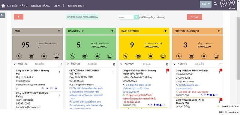 Quản lý khách hàng và sales bằng công cụ LeadCard View