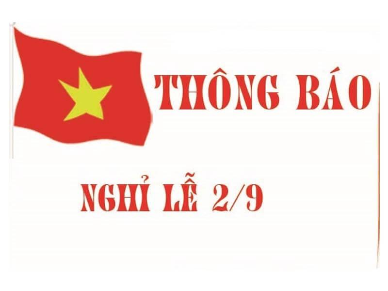 LONGPHATCRM - Thông Báo Nghỉ Lễ Quốc Khánh 2/9