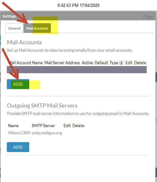 thiết lập email sử dụng