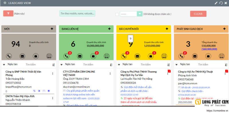 Triển khai phần mềm quản lý khách hàng crm online cho nha khoa Cẩm Tú