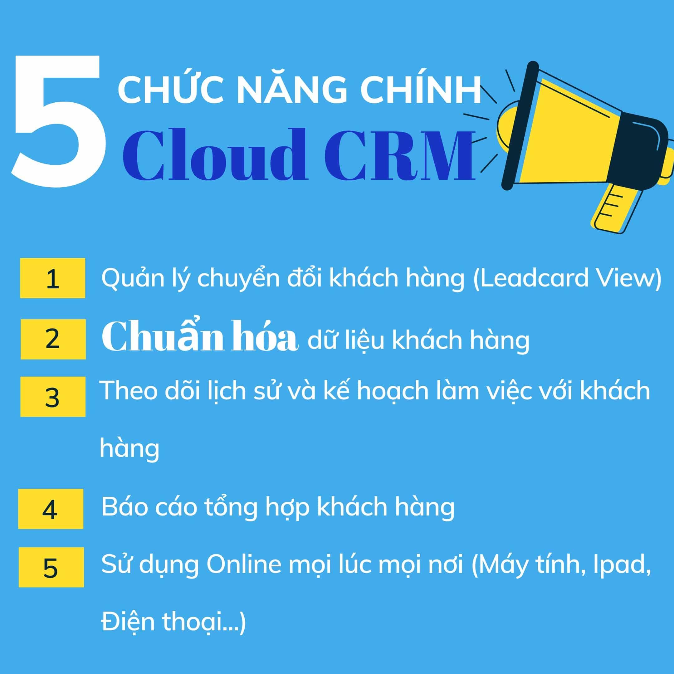 Cho thuê công cụ quản lý khách hàng CRM