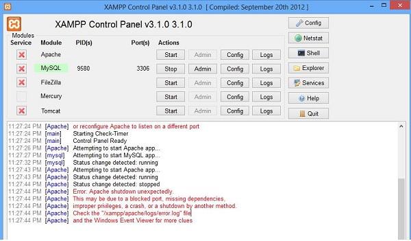 Sửa lại file HTTPD-SSL để Start Apache