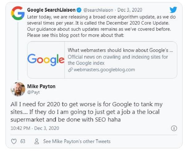 Một số thông tin cơ bản về bản cập nhật lõi của Google