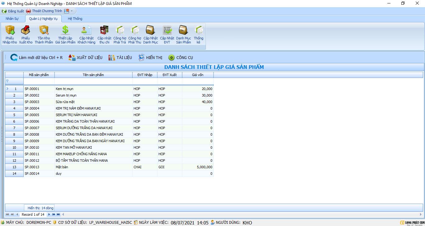 Phần mềm quản lý nhập xuất tồn kho | LONGPHAT.INVETORY