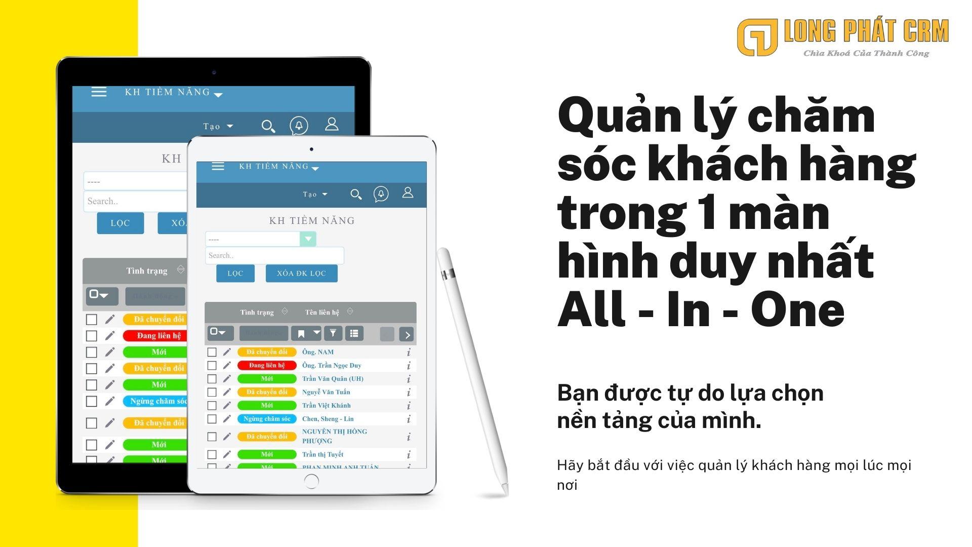 phần mềm quản lý khách hàng crm trên điện thoại